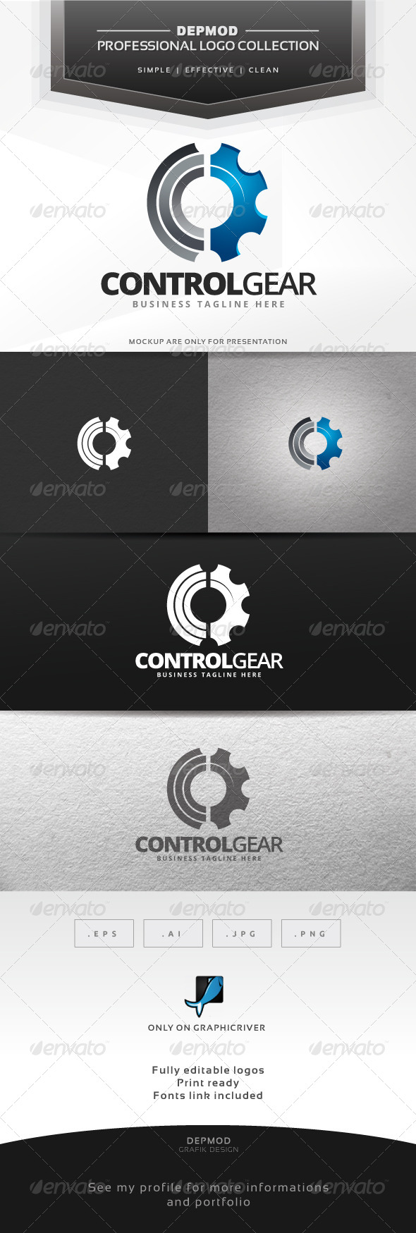 GraphicRiver Control Gear Logo 6703481