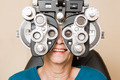 Happy Woman Having An Eye Test - PhotoDune Item for Sale