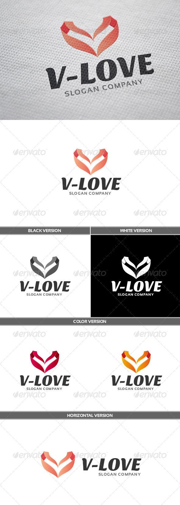 GraphicRiver V-Love Logo 6705310