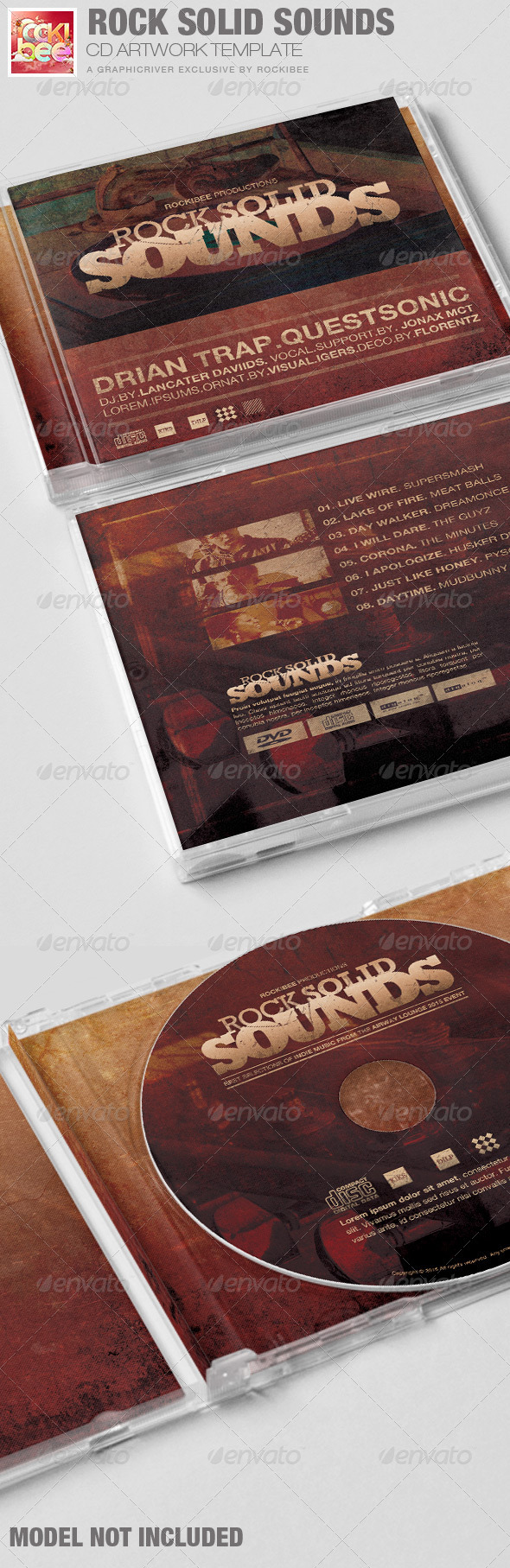 GraphicRiver Rock Solid Sounds CD Artwork Template 6705651
