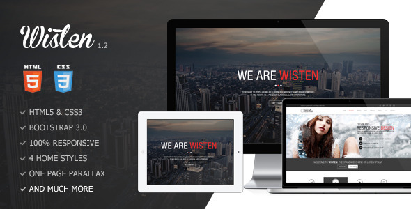 Wisten - One Page Parallax Theme - Creative Site Templates