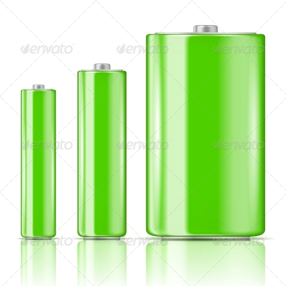 GraphicRiver Green Battery Range 6706760