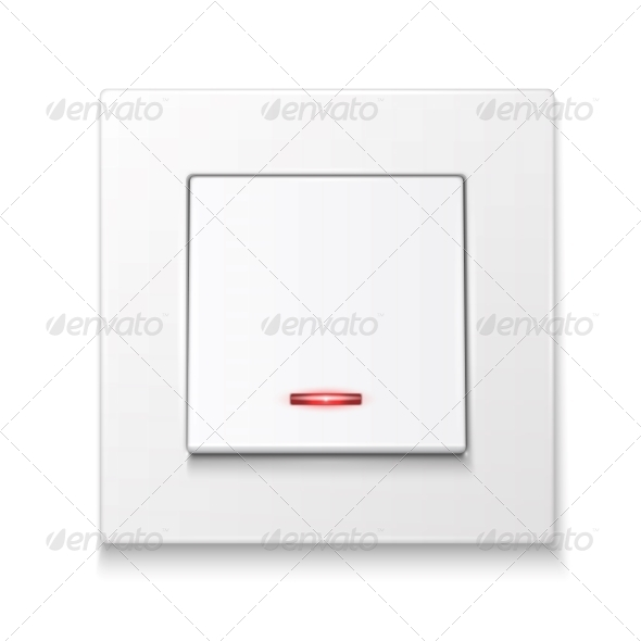GraphicRiver White Wall Switch with Illumination 6706775