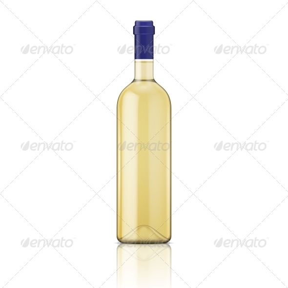 GraphicRiver White Wine Bottle 6706800