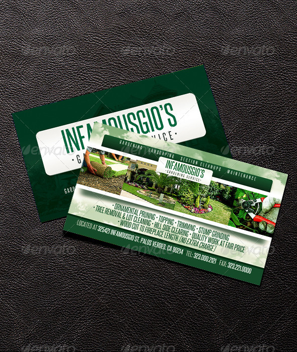 GraphicRiver Gardening Business Card 4 6707776