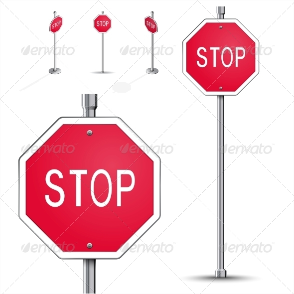 GraphicRiver Stop Road Sign 6708375