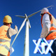 Windmills And Workers - VideoHive Item for Sale