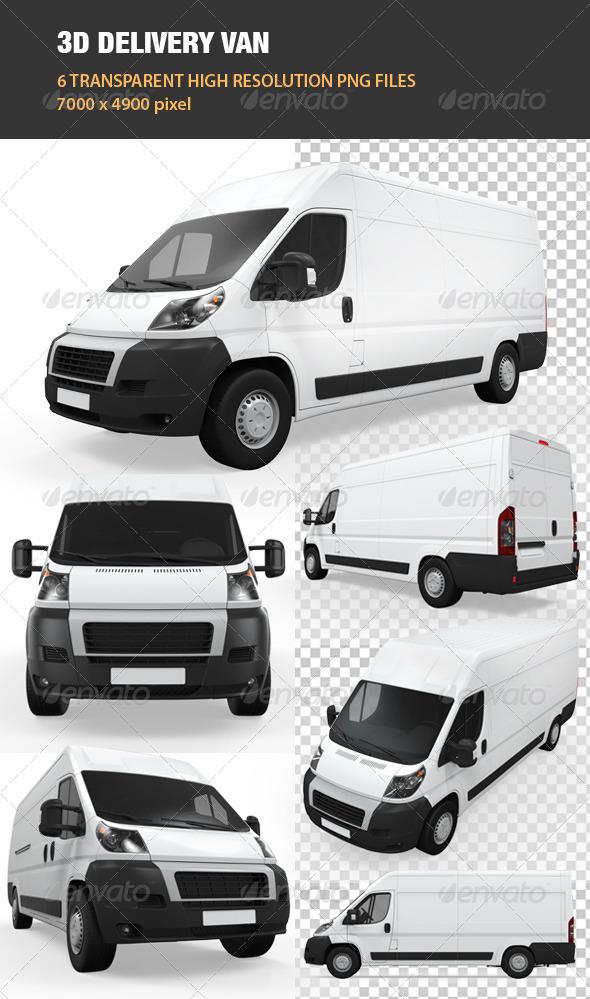 GraphicRiver 3D Delivery Van 6709167