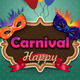 Carnival Masks with Label - GraphicRiver Item for Sale