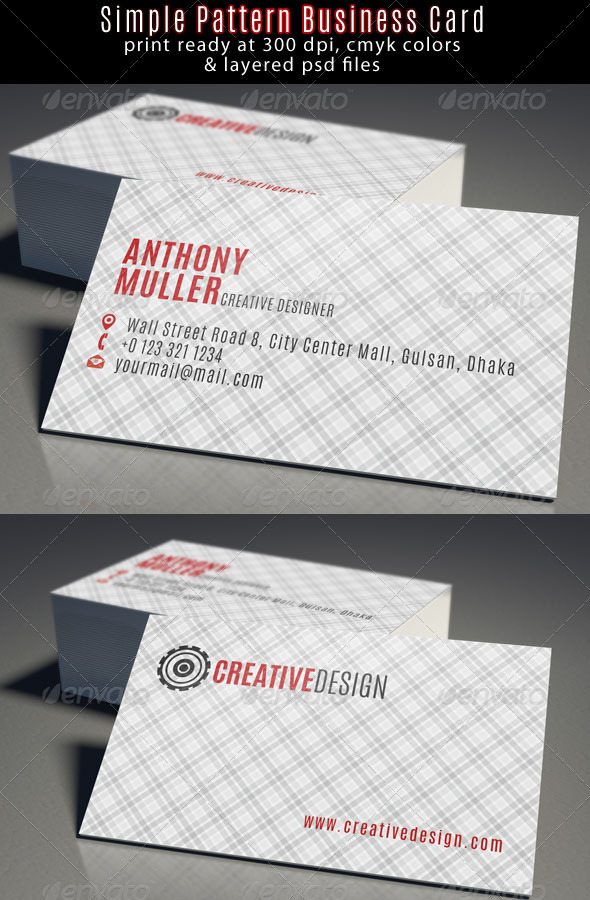 GraphicRiver Creative Designer Business Card 6710321