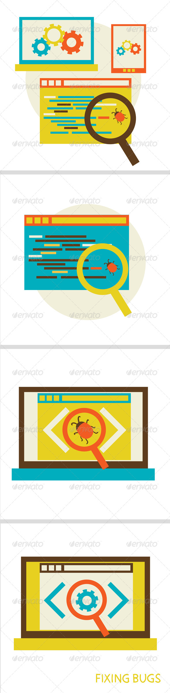 GraphicRiver Process of Fixing Bugs 6711890