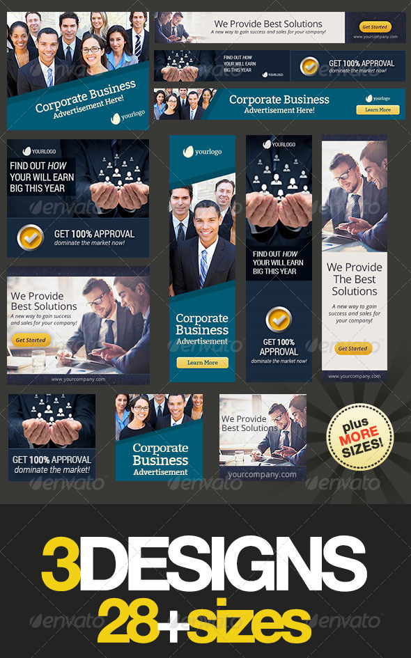 GraphicRiver Corporate Web Banner Set Bundle 9 6712430