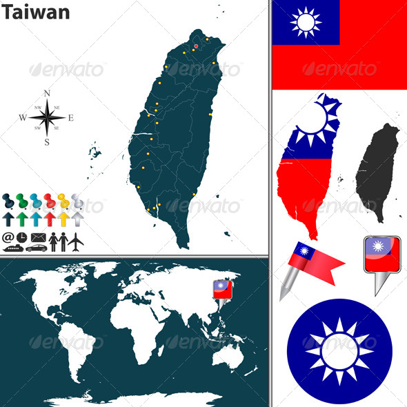 GraphicRiver Map of Taiwan 6712494