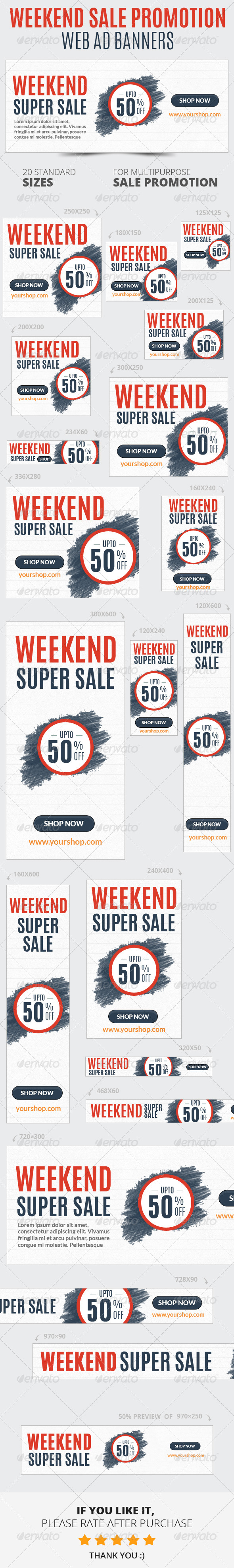 GraphicRiver Weekend Sale Promotion Web Ad Banners 6712533