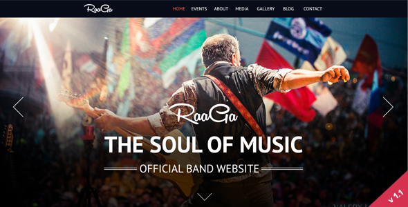 Raaga - Responsive Parallax Template for Bands - Music and Bands Entertainment
