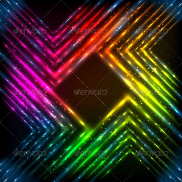 GraphicRiver Abstract Rainbow Neon Corners Background 6714530