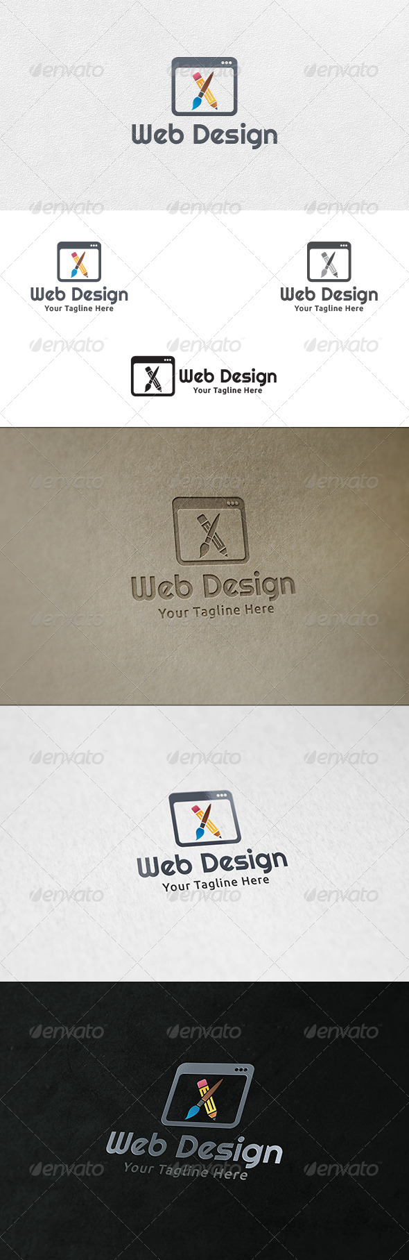 GraphicRiver Web Designing Logo Template 6714641