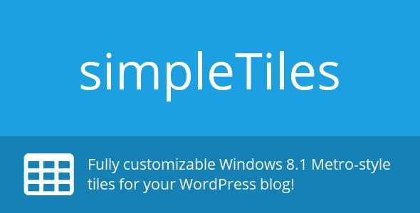 CodeCanyon simpleTiles WordPress Plugin 6584964