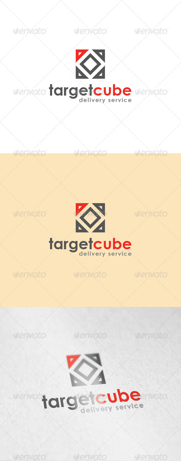 GraphicRiver Target Cube Logo 6716563