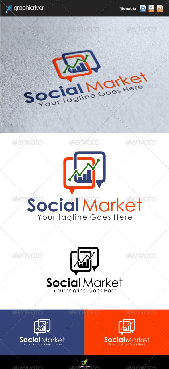 GraphicRiver Social Market Logo template 6716964