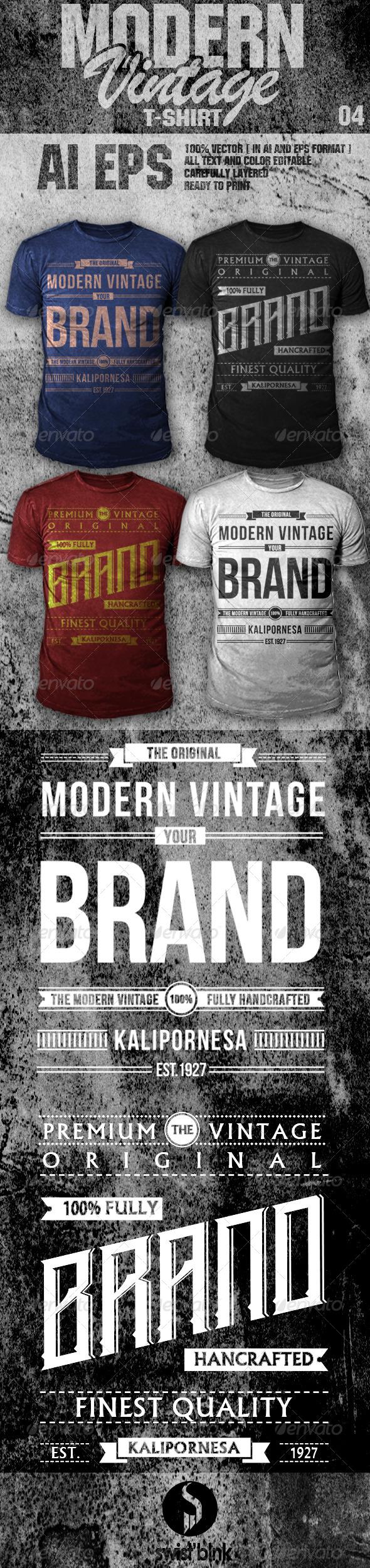 GraphicRiver Modern Vintage T-Shirt 04 6717309