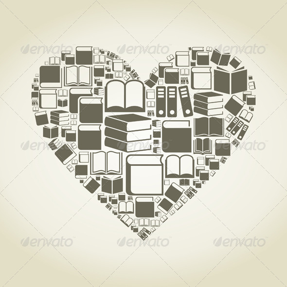 GraphicRiver Book Heart 6718061