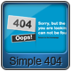 Simple 404 Error Page Design - GraphicRiver Item for Sale