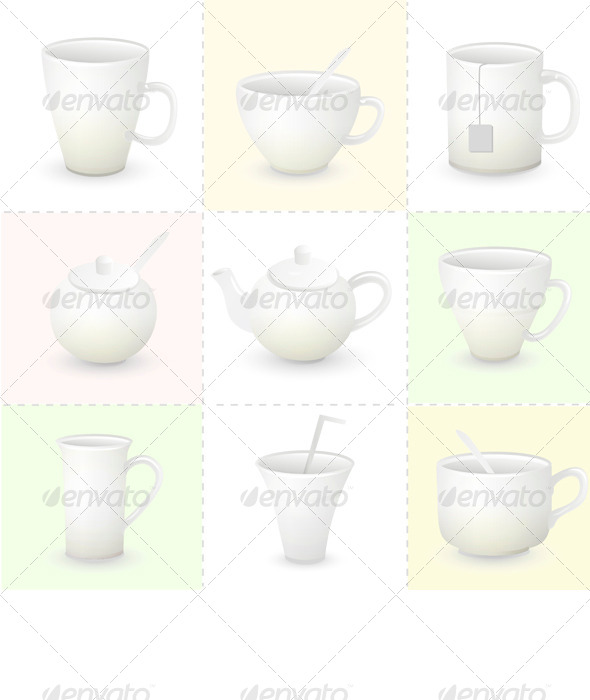 GraphicRiver Cup Set 6719013