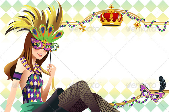 GraphicRiver Mardi Gras Background 6658297