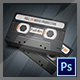 Audio Cassette Business Card for Music Industry - GraphicRiver Item for Sale