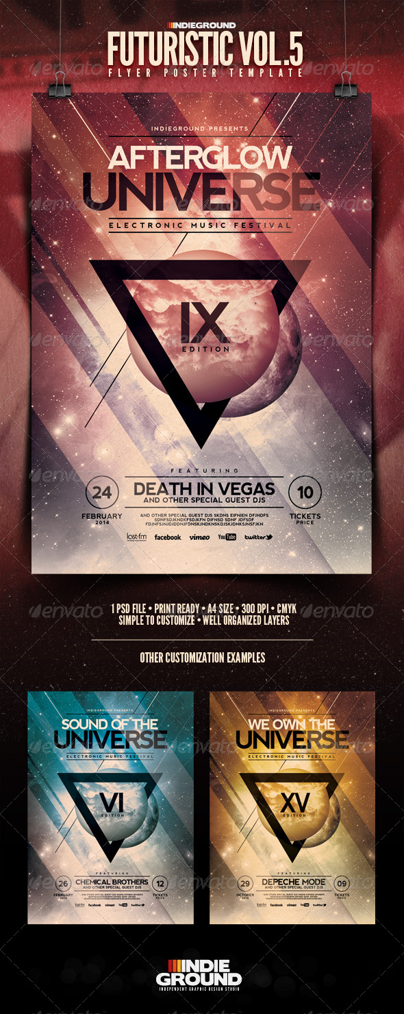GraphicRiver Futuristic Flyer Poster Vol 5 6716243