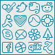 Slender Glyphs: Social Network Icon Set - GraphicRiver Item for Sale