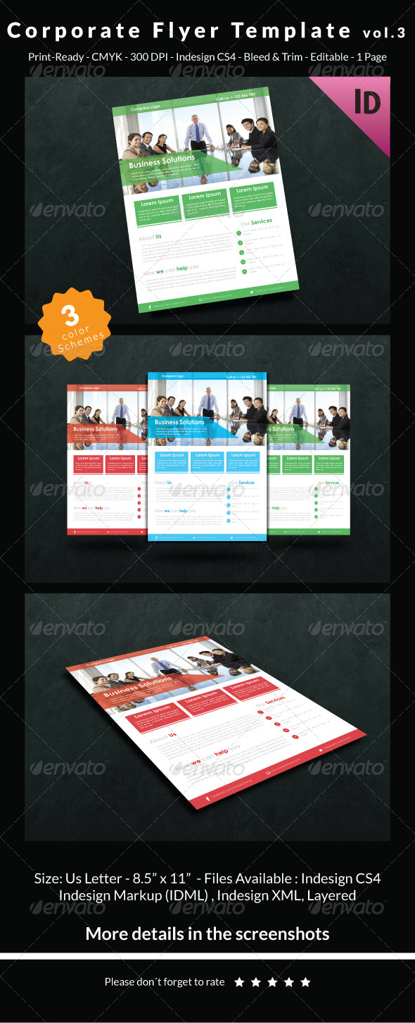 GraphicRiver Corporate Flyer Template Vol.3 6720661