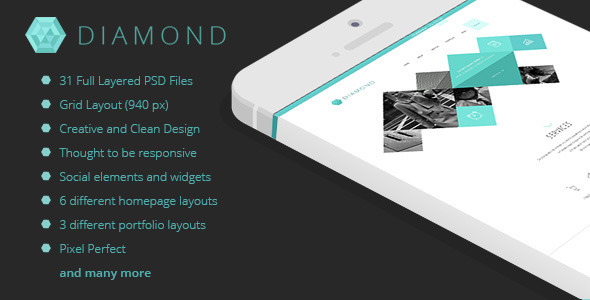 Diamond - Multipurpose Business PSD Template - Business Corporate