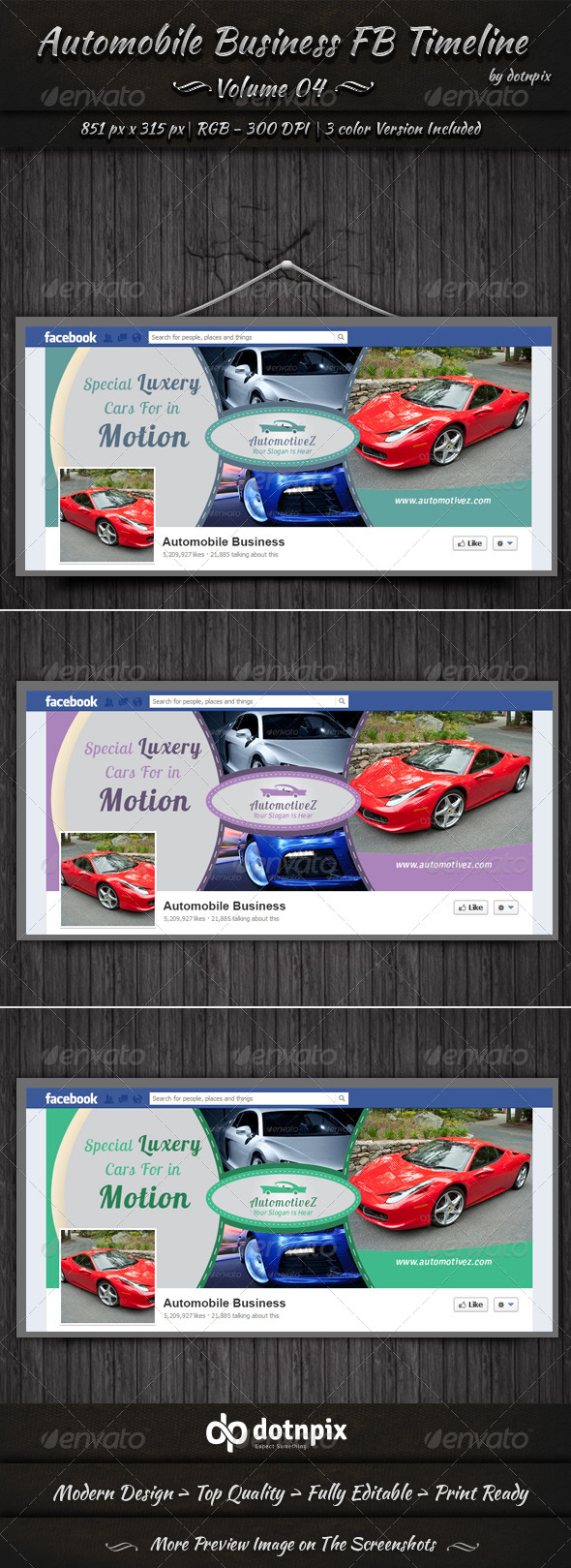 GraphicRiver Automobile Business FB Timeline Cover Volume 4 6721576