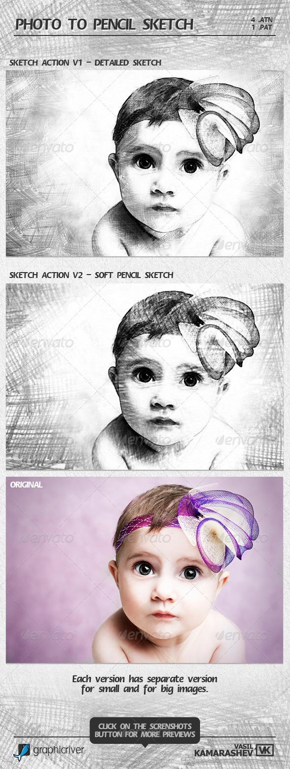 04 photoshop action biến hình ảnh thành nét vẽ chì 4