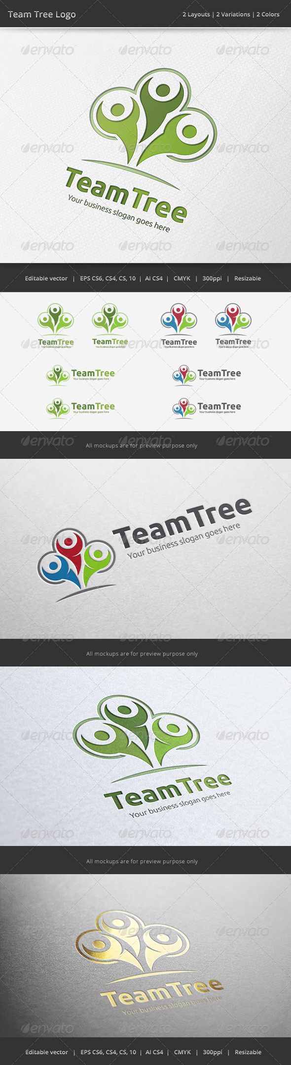 GraphicRiver Team Tree Logo 6724761