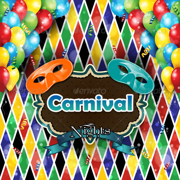 GraphicRiver Carnival Harlequin Background 6724966