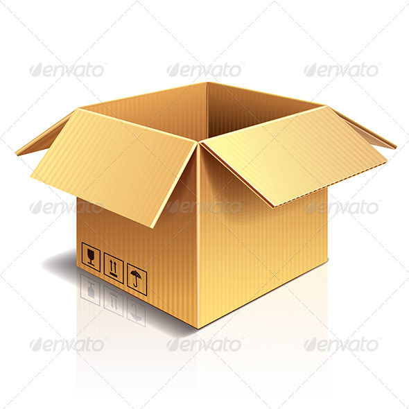 GraphicRiver Opened Cardboard Box Vector Illustration 6724993