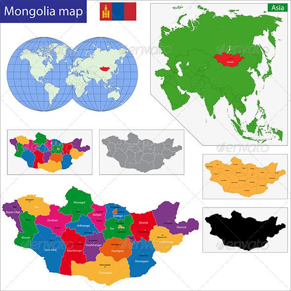 GraphicRiver Mongolia Map 6725158