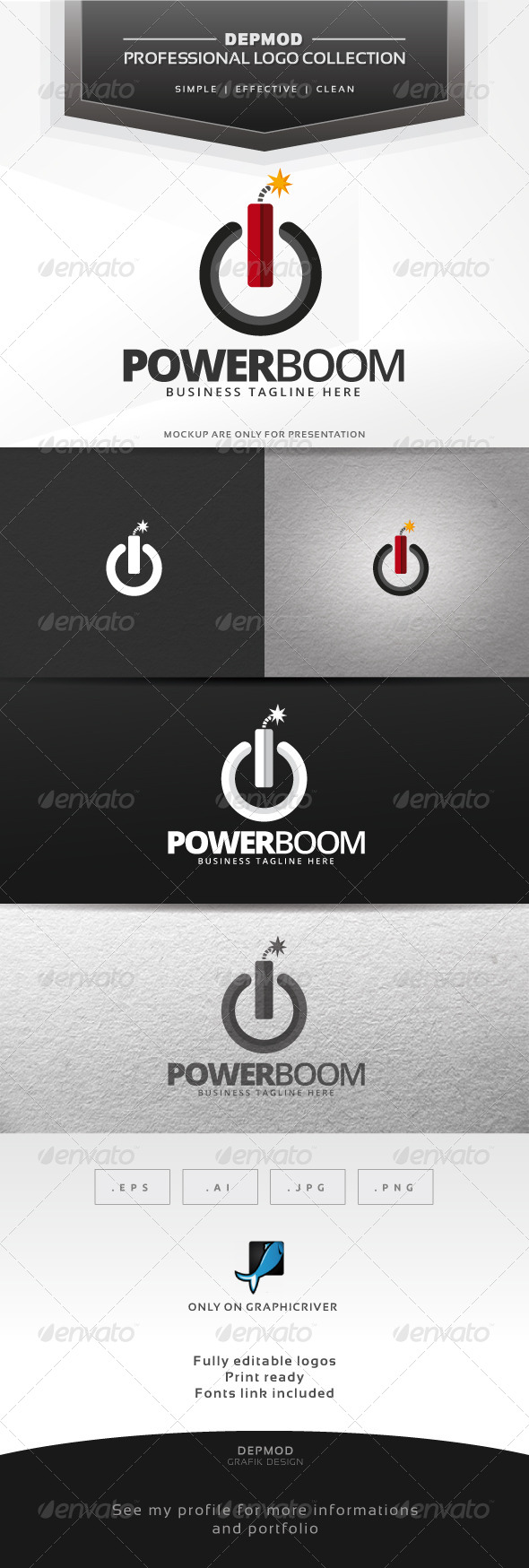 GraphicRiver Power Boom Logo 6725192