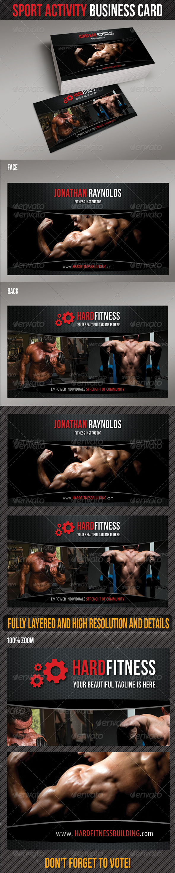 GraphicRiver Sport Activity Business Card 6725259