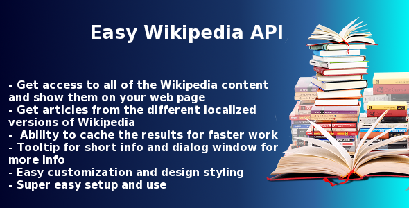 Easy Wikipedia API script - CodeCanyon Item for Sale