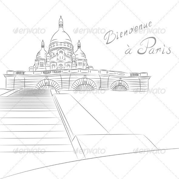 GraphicRiver Sacre Coeur in Paris 6725359