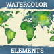 Watercolor Design Elements Hand Drawn - GraphicRiver Item for Sale