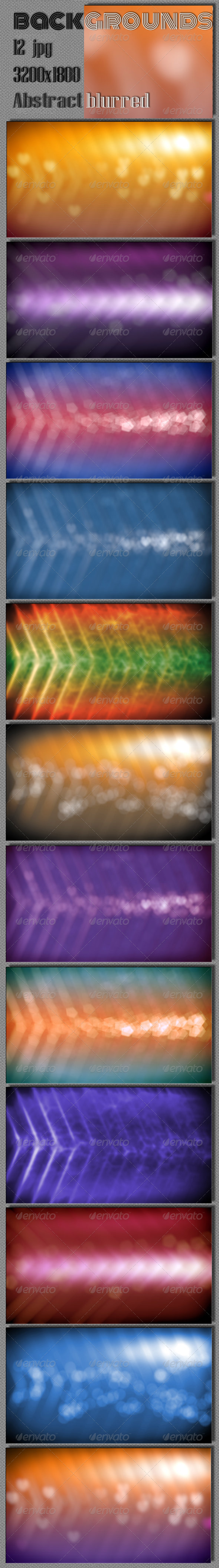 GraphicRiver Abstract Blurred Backgrounds 6726149