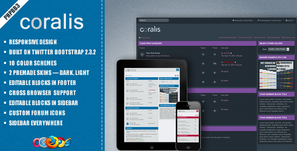 Coralis - Responsive Theme for phpBB3 - PhpBB Forums