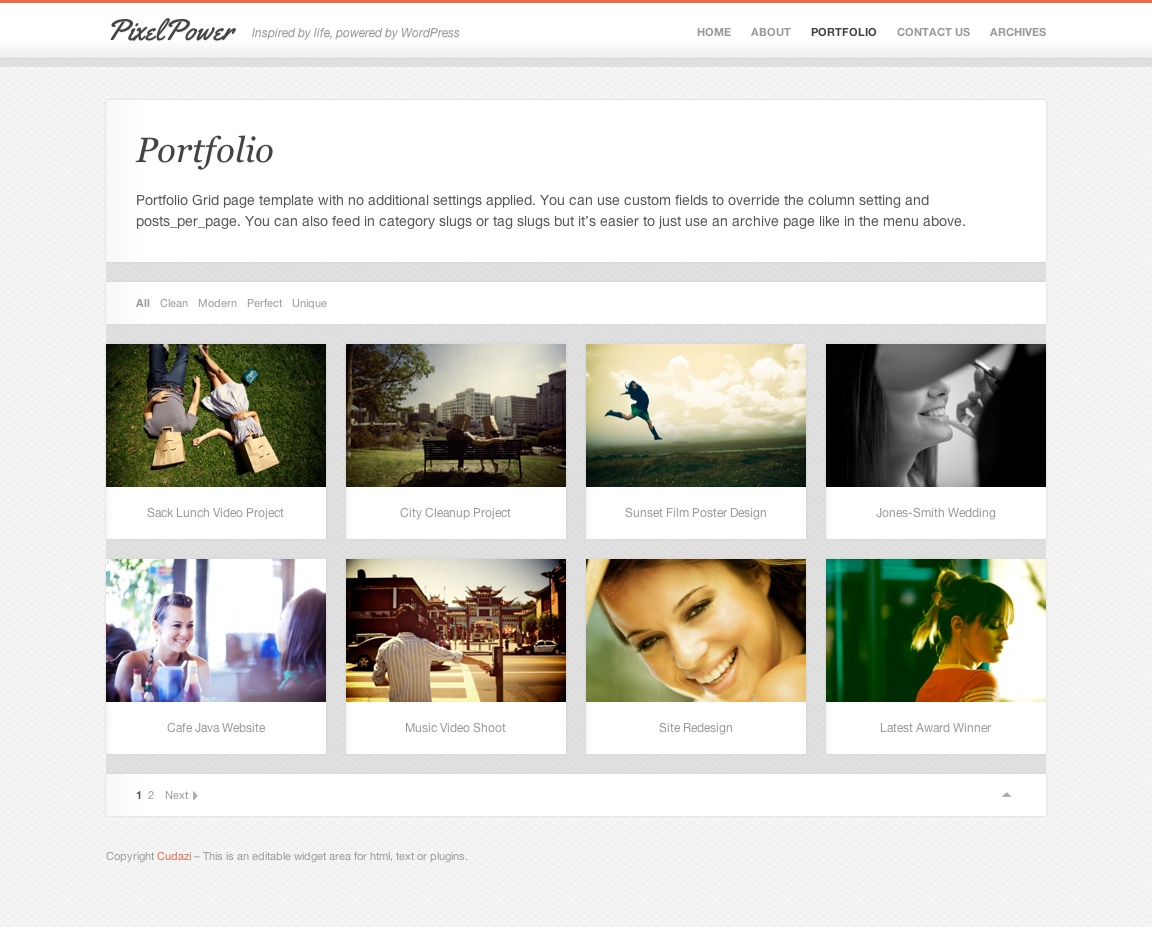 PixelPower - Responsive HTML5/CSS3 WordPress Theme