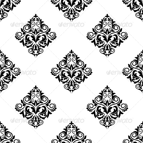 GraphicRiver Damask Style Arabesque Seamless Pattern 6727237
