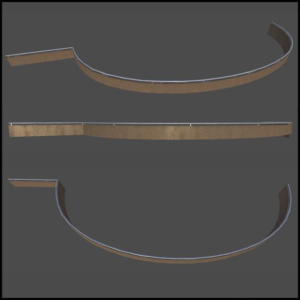 3DOcean Trim Wooden Railing 6728651
